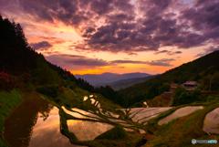泉谷の日没