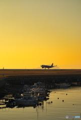 夕時の松山空港