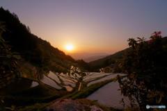泉谷の夕景