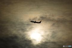 薄雲の中の陽
