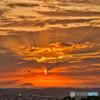 瀬戸内海に落ちる夕陽