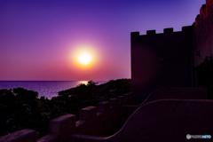 池間島の夕陽