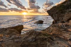 城ヶ島の夕日