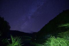 またまた湖と星。