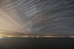 瀬戸内海のさざ波と星。