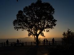 夕の若草山