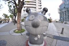 バイキンマン像