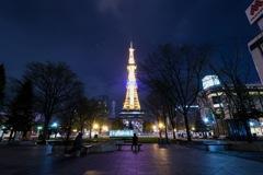 夜の札幌テレビ塔