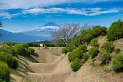 山中城跡から 日本100名城