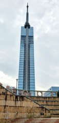 福岡タワーを携帯で