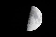 上弦の月(夜)