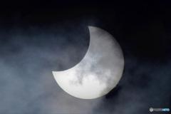 2019年に撮影した部分日食
