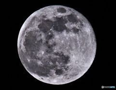 今宵の月 ( 望・月齢15.0 ) ピンクムーン