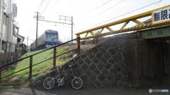 静岡鉄道 電車とモールトン