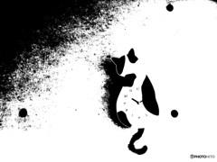 黒か白 三毛猫の時計