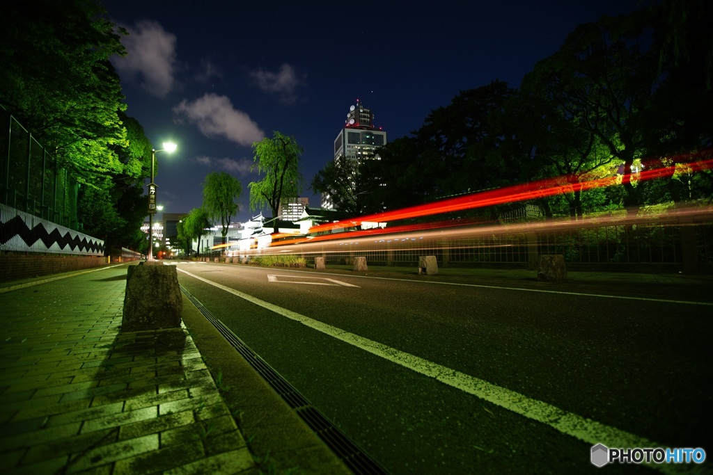 夜スナップ 駿府城公園横