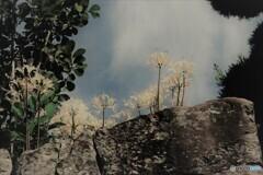石垣の花 白い彼岸花