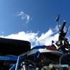 青い空と青いモンキー