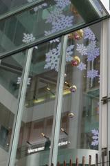 ウインドーガラスに雪が。。。