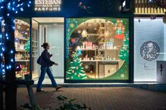 Ginza Christmas show window