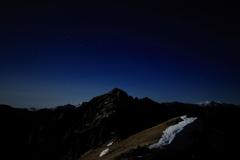 燕岳と星空