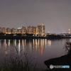 黄昏の河川敷9