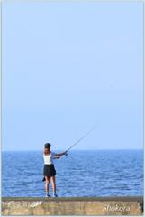 Female angler