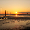 江川海岸の夕日Ⅳ