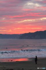 夕焼け海岸