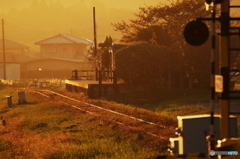 夕染めの駅