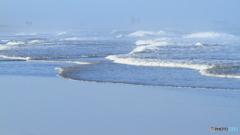 九十九里浜の波