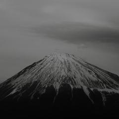モノクロ富士