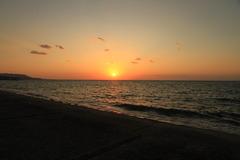 瀬戸内に沈む夕日
