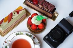 ケーキと紅茶とGR