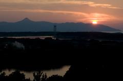 南さつまの夕陽