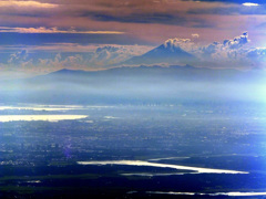 東京と富士