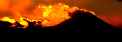 富士山の大火事
