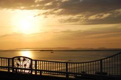 沖縄本島の夕日