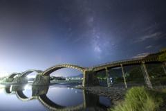 錦帯橋と天の川