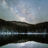 残雪と夏の銀河