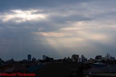 朝の光芒①