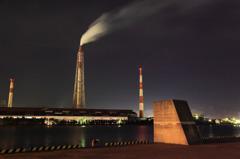 小倉港から見る工場夜景