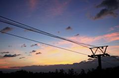 富良野スキー場の夜明け