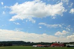 牛舎のある風景