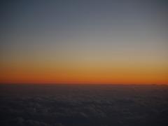 38000ft の夕暮れ