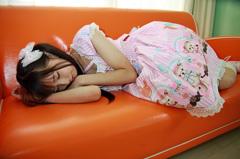 眠ったふり。。2