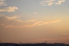 茜色の夕日、眺めていたら