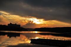 夕日百選場所からの夕日
