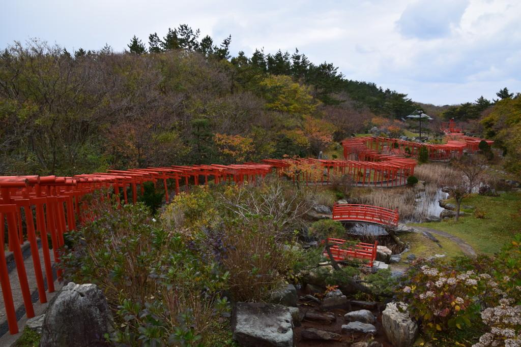 高山稲荷神社の千本鳥居2