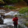 照葉峡の釣りガール2